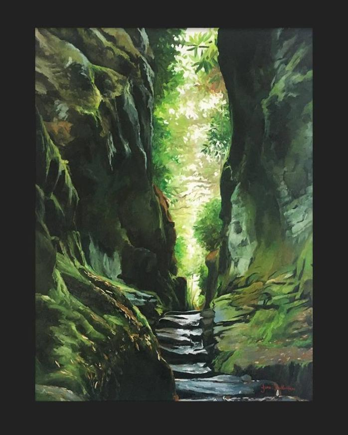 110 - Into the light - Painted in oils on canvas. size 46/61cm